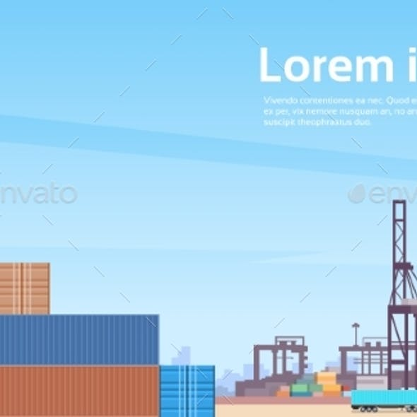 Logistics Cargo Container Industrial Sea Port