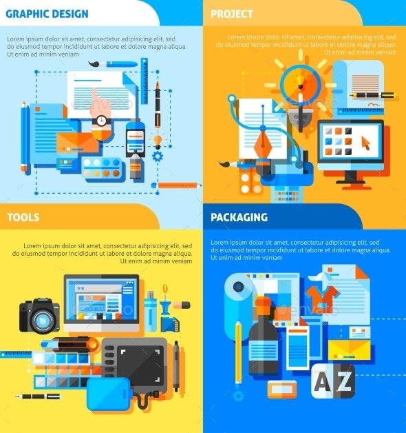 Graphic Design Concept Icons Set  - Technology Conceptual
