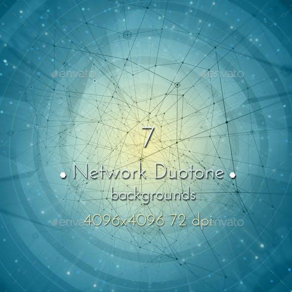 Network Duotone Background