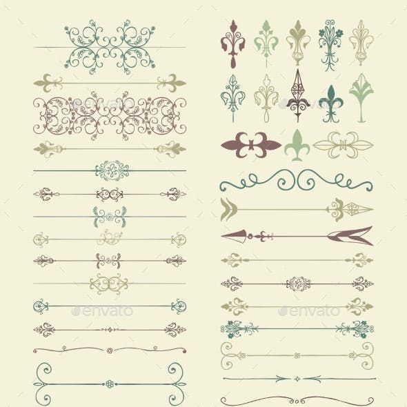 Colorful Hand Drawn Dividers