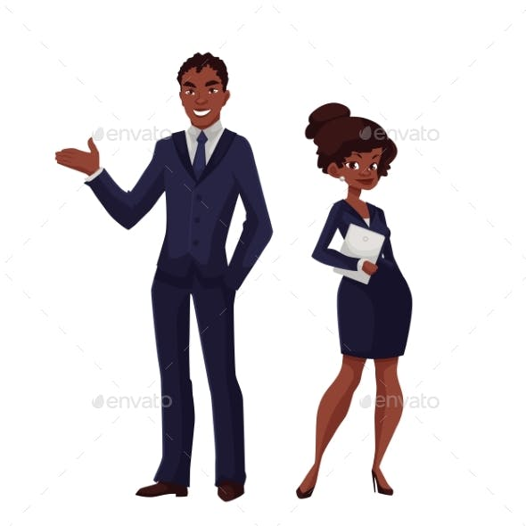 Black Business Man And a Woman