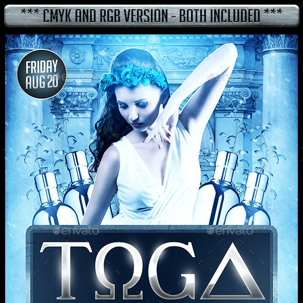 Toga Party Flyer