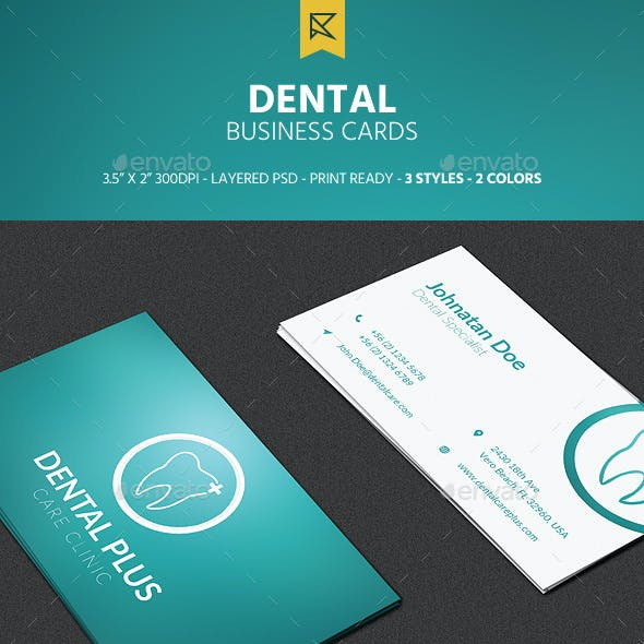 3 Dental Business Cards