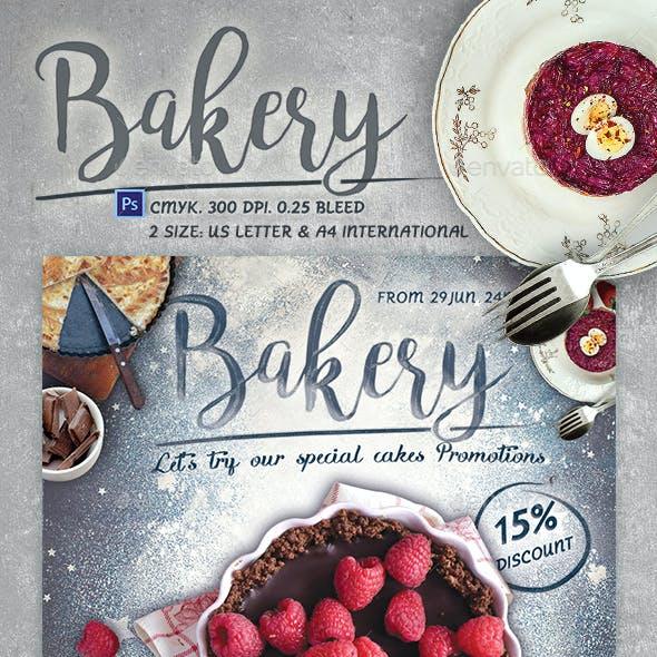 Printable Bakery Promotion - Online Cooking Class Flyer Template