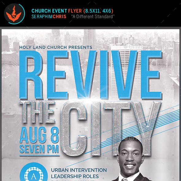 Revive the City Church Conference Flyer Template
