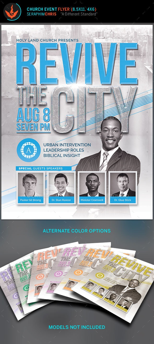 Revive the City Church Conference Flyer Template - Church Flyers