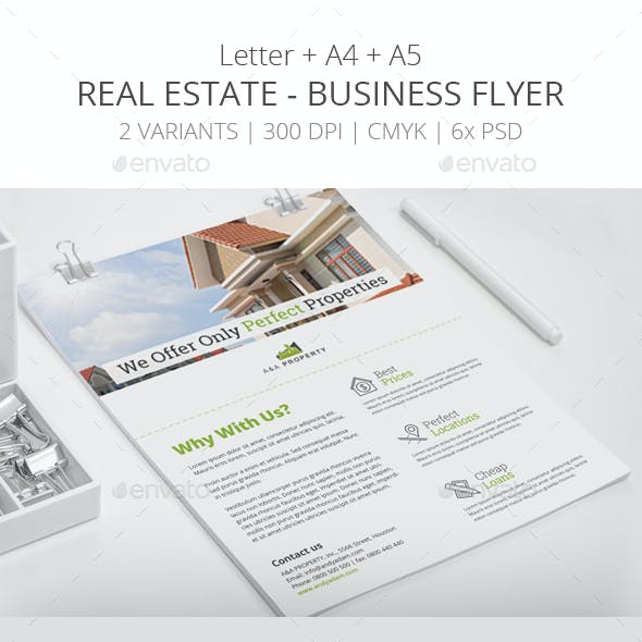 Real Estate - Business Flyer Template 2