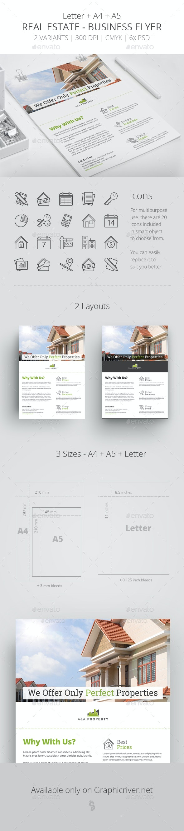 Real Estate - Business Flyer Template 2 - Corporate Flyers