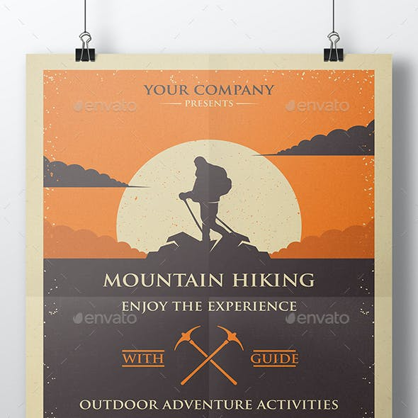 Mountain Hike Flyer Template