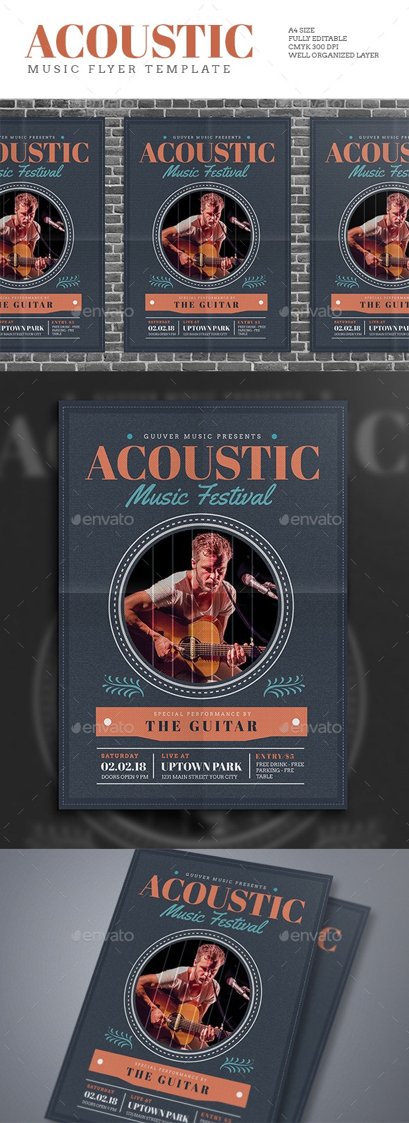 Acoustic Music Flyer - Events Flyers