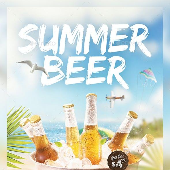 Summer Beer Flyer Template