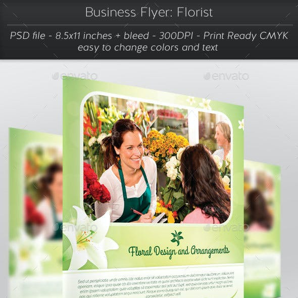 Business Flyer: Florist