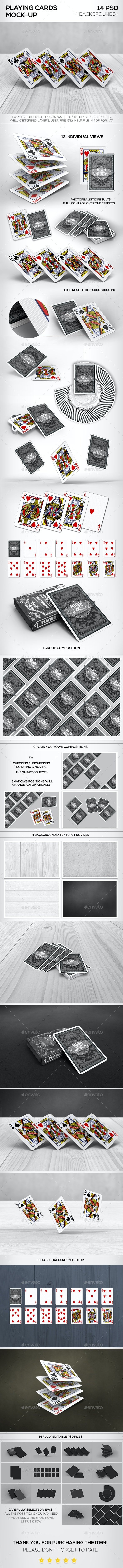 Playing Cards Mock-up - Product Mock-Ups Graphics