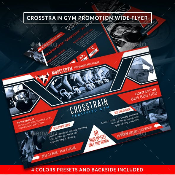 Cross Training Gym Promotion Wide Flyer