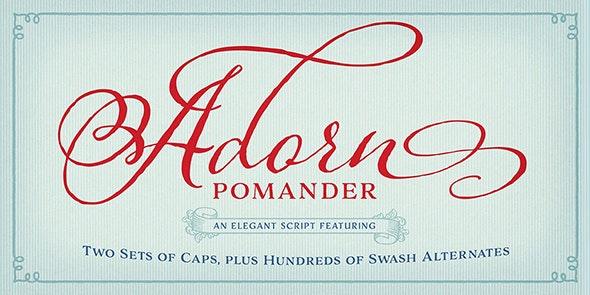 Adorn Pomander - Fancy Fonts