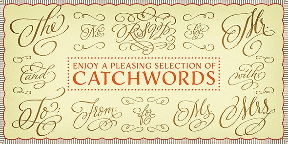 Adorn Catchwords - Ding-bats Fonts