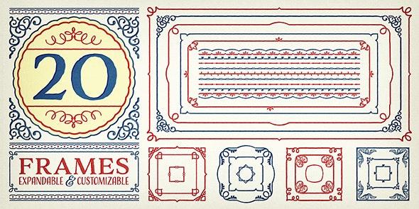 Adorn Frames - Ding-bats Fonts