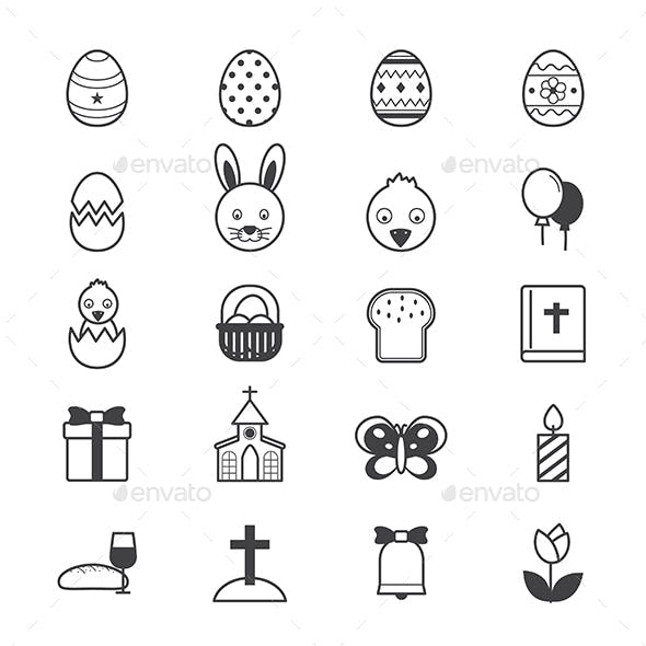 Easter Icons Line