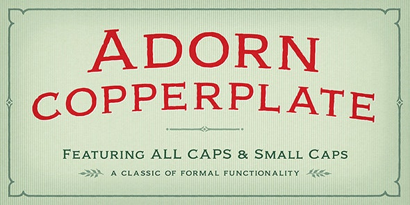 Adorn Copperplate - Decorative Fonts