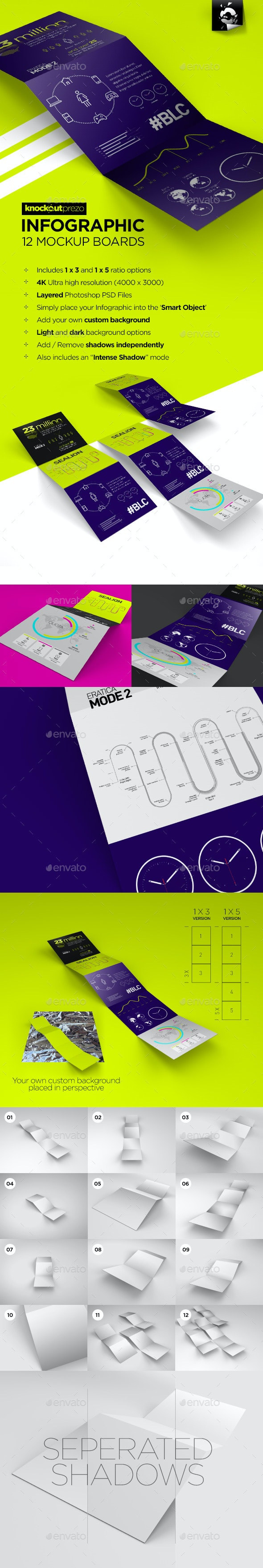Infographic Mockup Board - Brochures Print
