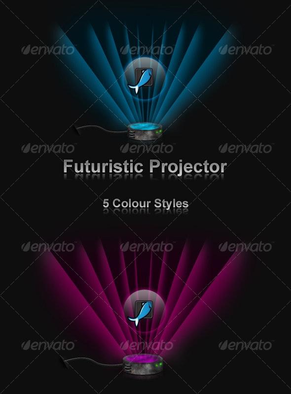 Futuristic Projector - Backgrounds Decorative