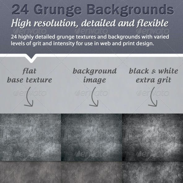 24 high resolution grunge backgrounds