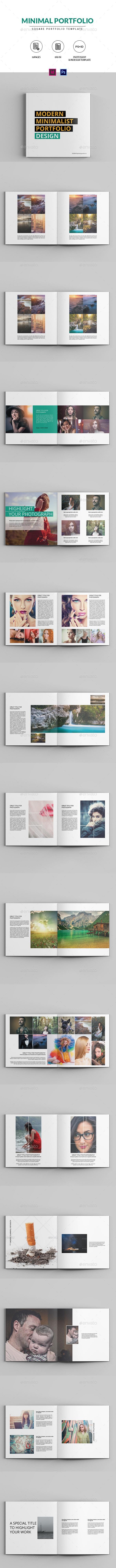 Minimal Square Portfolio Brochure - Portfolio Brochures