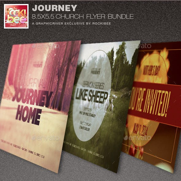 Journey Church Flyer Template Bundle
