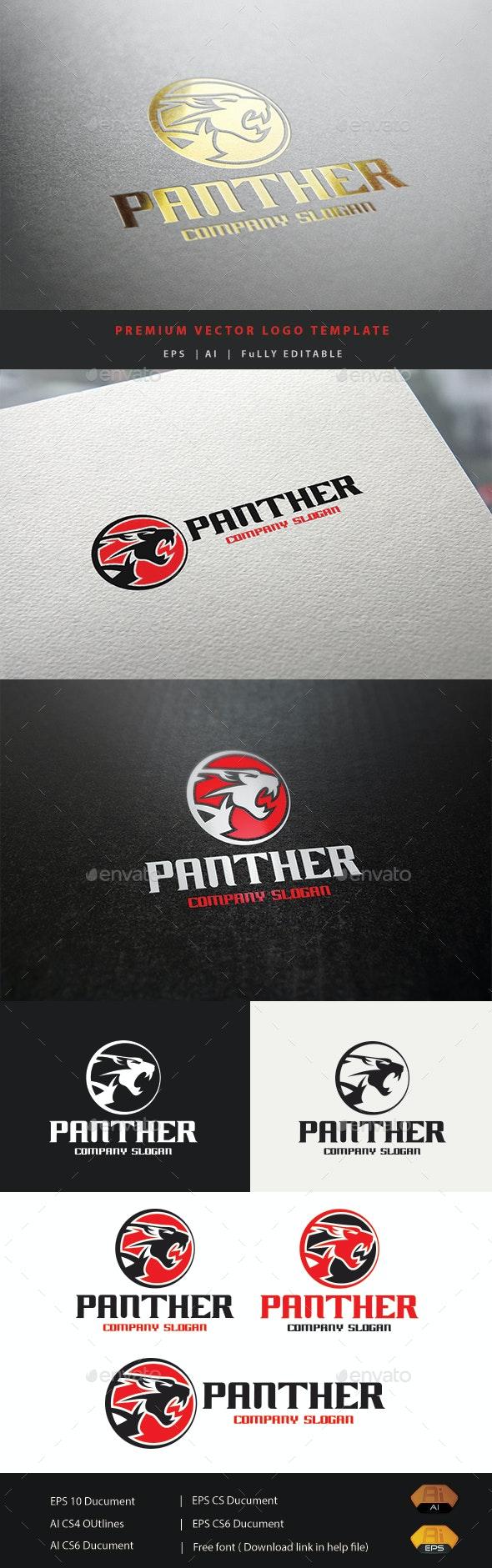 Panther Logo V.2 - Animals Logo Templates