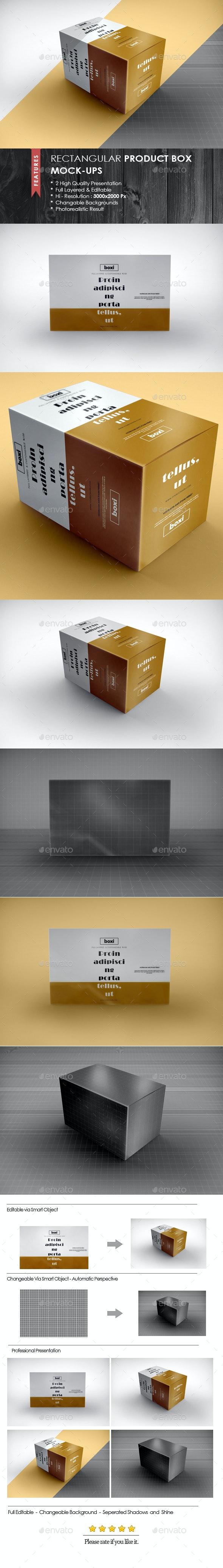 Rectangular Product Box Mock-Ups - Packaging Product Mock-Ups
