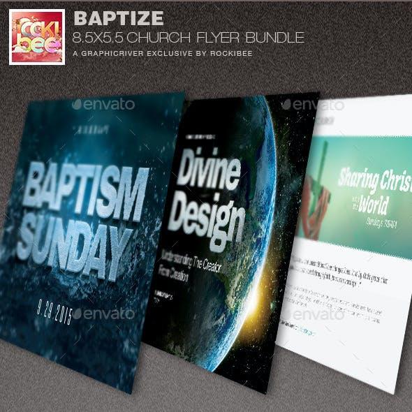 Baptize Church Flyer Template Bundle