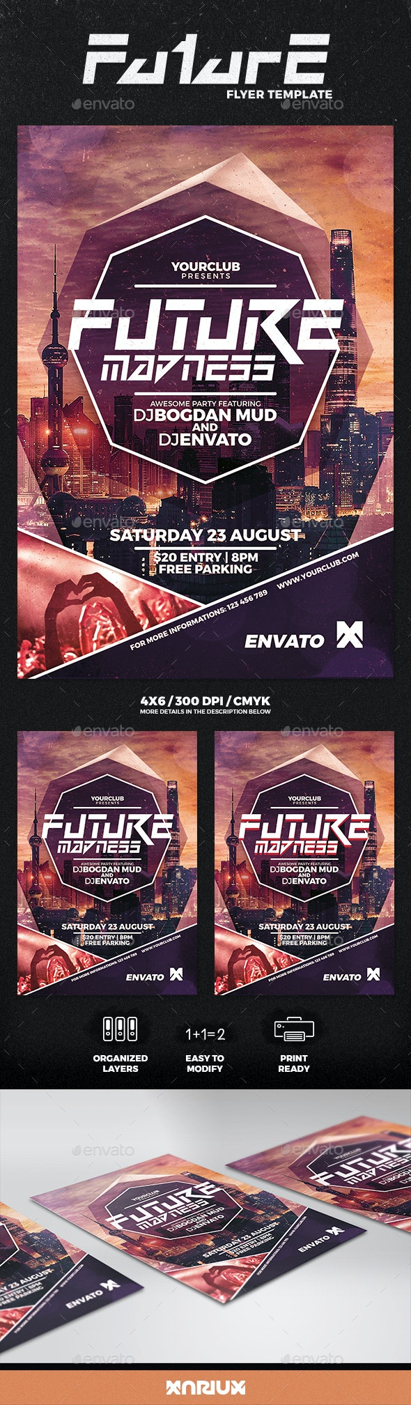Future Madness Flyer - Clubs & Parties Events
