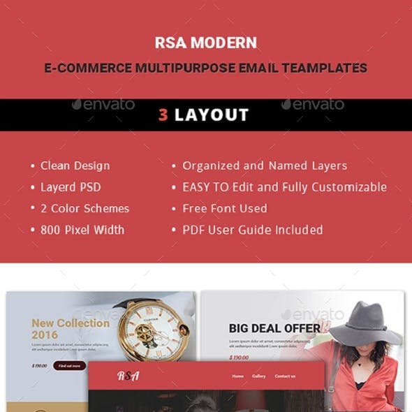 E-Commerce Multipurpose Email Template