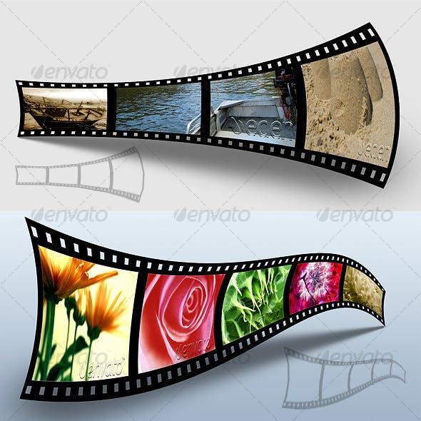 3D Filmstrip Portfolio