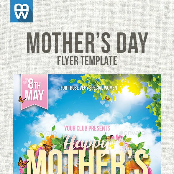 Mother's Day Flyer Template by IndWorks