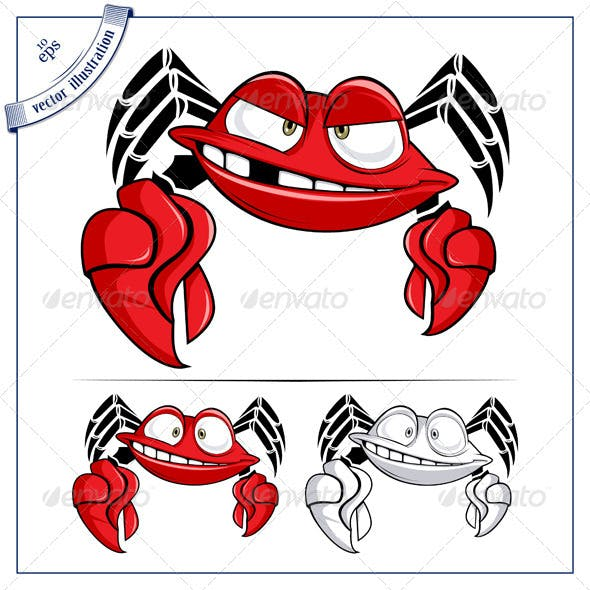 Cartoon Crab Smile