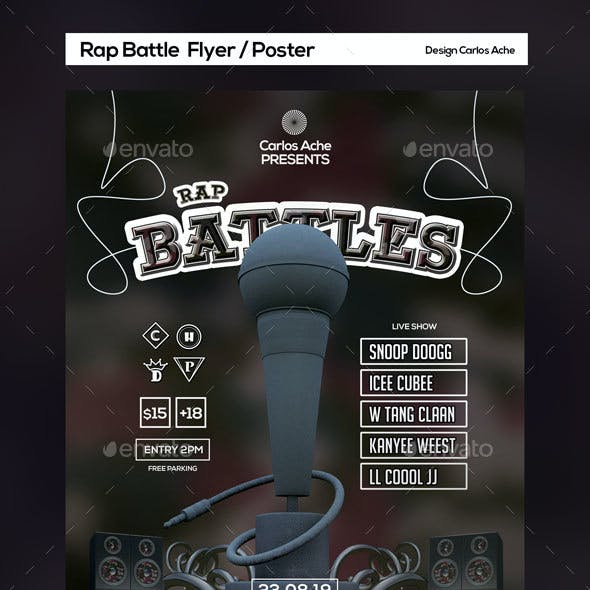 Rap Battle Flyer and Poster Template