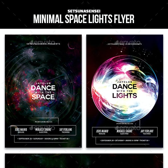 Minimal Space Lights Flyer