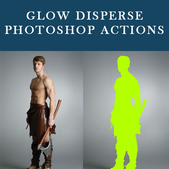 Glow Disperse Photoshop Action
