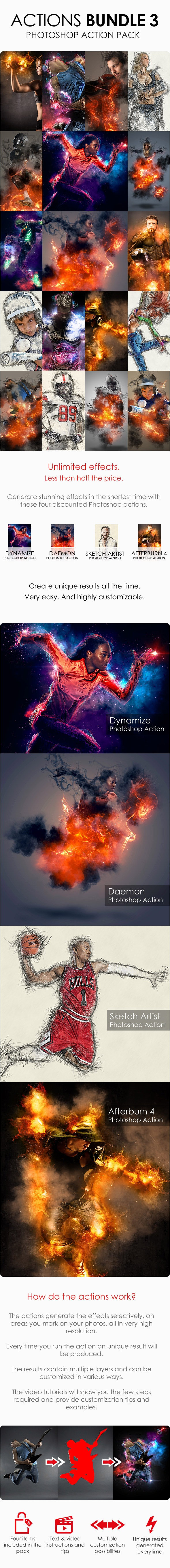 Actions Bundle 3 - Photo Effects Actions