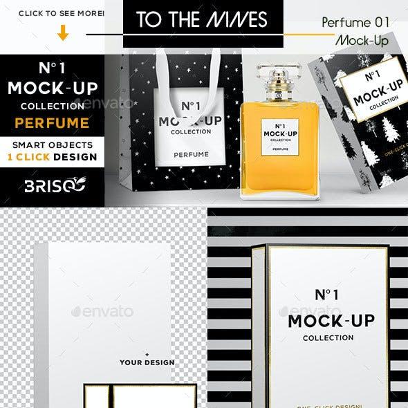 Nº1 Mock-up • Perfume + Bag + Box