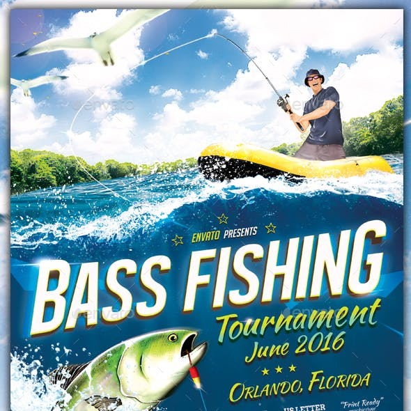 Fishing Tournament Flyer / Poster Template