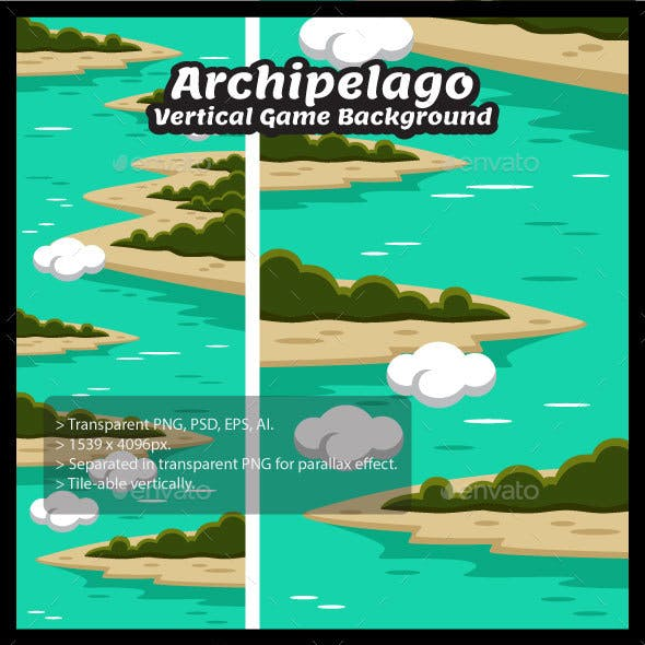 Archipelago Vertical Game Background