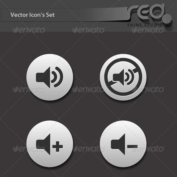 Web Audio, Chat & Shopping Icon Vector Pack