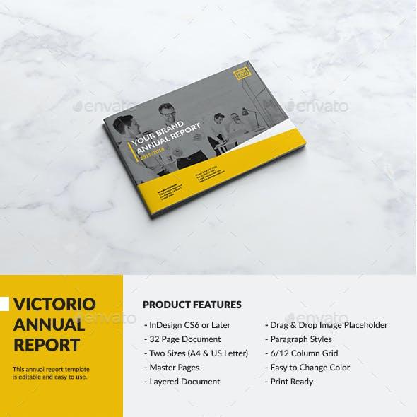 Victorio Landscape Annual Report