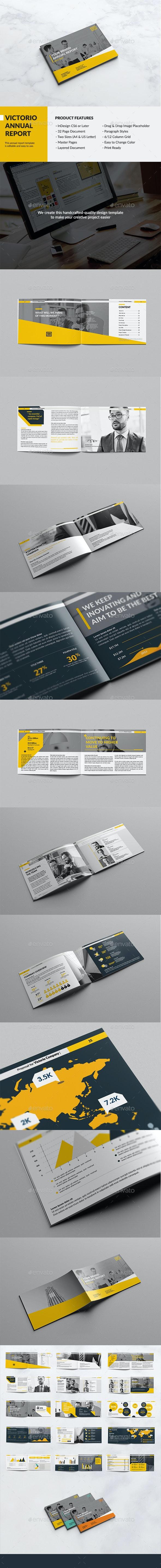 Victorio Landscape Annual Report - Brochures Print Templates