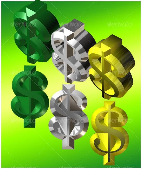 Dollar Sign - 3D Renders Graphics