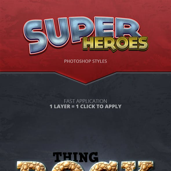 Super Heroes - Photoshop Styles