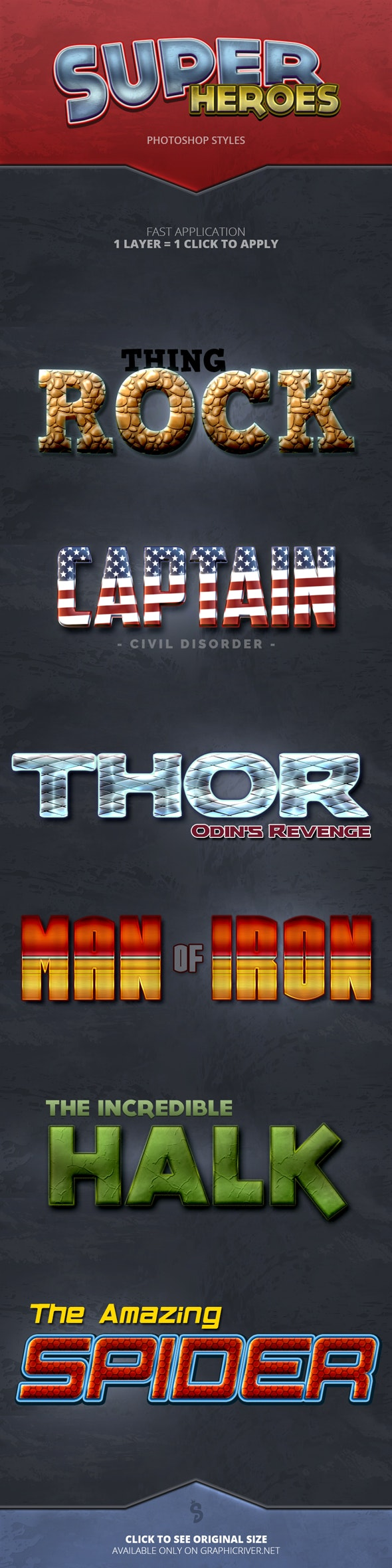 Super Heroes - Photoshop Styles - Text Effects Styles