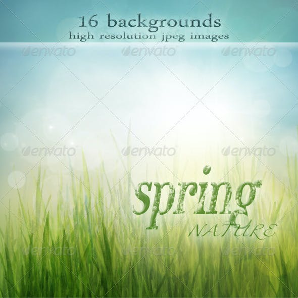 Nature Spring Backgrounds with Bokeh Effect vol.2